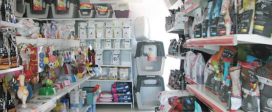We stock a large variety ofl pet accessories and food